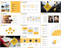 31+ Best yellow business report PowerPoint template