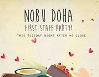 Nobu Doha Party Flyer