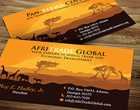 Business Card Design -  AfriTrad Global