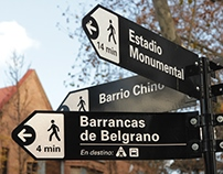 Direccionadores peatonales Barrio Chino - Belgrano