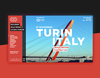 Railway Silk Road Cities Forum web-site design