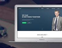 Landin page for web studio