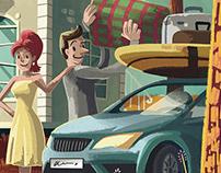 Illustration & Marketing elements 2018 / DDOR Insurance