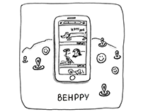 BeHppy iPhone App. UX Design Process
