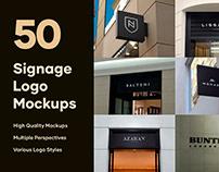 50 Signs & Facade Logo Mockups - V2