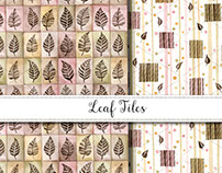 Leaf Tiles Pattern Design