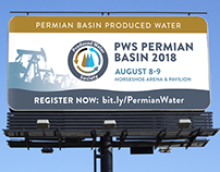 Billboard design for Produced Water Society event