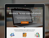 Landing Page for Business Social network