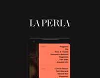 LAPERLA - minimalist app design