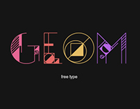 GEOM Display Typeface: Free
