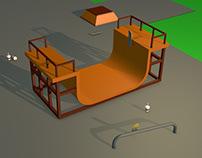 Skate Park Modeling & Animation - Cinema 4D