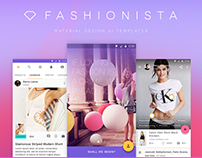 Fashionista – Material Design UI Kit