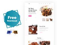 Cake Shop Landing Page Free Download