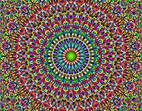 DAVID ZYDD-12 Colorful Seamless Floral Mandala Patterns
