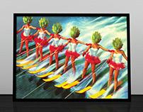 Artichoke Ladies commissioned artwork