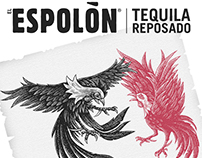 Espolón Tequila Label Illustrations by Steven Noble