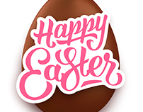Easter greeting cards with lettering