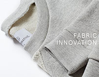 Fabric Innovation & Social Responsibility Page Design