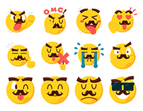 Mr Moji Stickers Pack