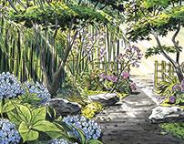 Japanese atmosphere garden