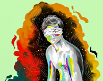 Bath in colors   Digital illustration