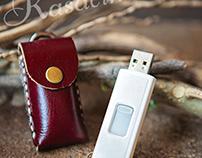 LEATHER USB HOLDER