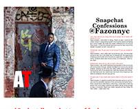Retouching for Alwayz Therro Magazine
