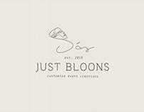 Just Bloons   Logo Design
