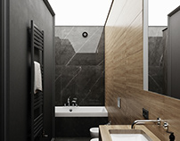 Black marble bathroom