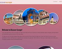 Discover Europe Web Design