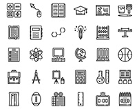Education icons (free download)