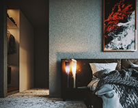 bedroom visualization with early morong vibe