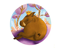 Boar queen illustration