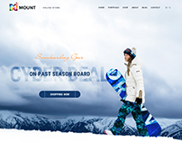 Mount - eCommerce PSD Template