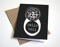 Hello Doll Greeting Card