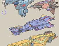 Ship concept Sketches