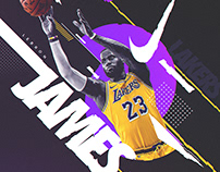 Nike Poster (Spoof) | LeBron James #23 | Lakers