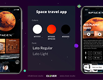 Space travel app