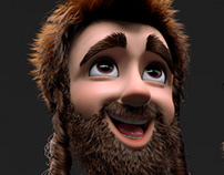 XGEN groom 3d cartoon character
