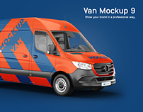 Mercedes Sprinter 2019 Van Mockup