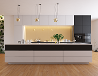 Modern Kitchen - Black and White