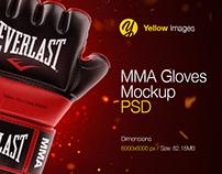MMA Gloves PSD Mockup