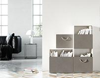 Textile on furniture panels