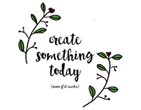 Create something today