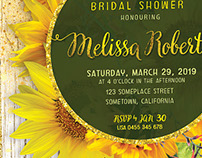 Sunflower theme Invitation Cards