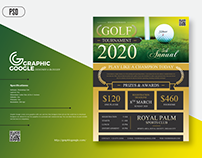 Free Modern Golf Tournament Flyer Template