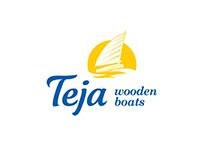 Wooden boat manufacturer TEJA logo