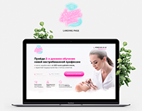 Landing Page for Lashmaker Academy