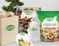 Branding and packaging design for Natura products