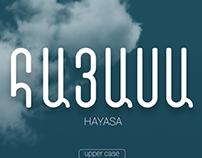 HAYASA Armenian Font Typography